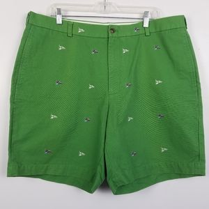 Brooks Brothers 346 Green Cotton Shorts 40